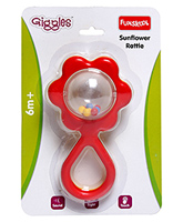 Funskool - Sunflower Rattle 6 Months+, A Perfect Baby's First Toy