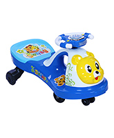 Fab N Funky Swing Car Ride On - Blue And White