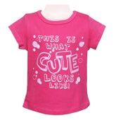 Juniors Half Sleeves Top - Pink