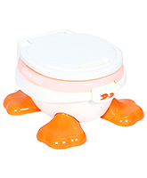 Fab N Funky Baby Potty Seat Duck Design - White And Peach