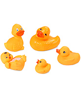 Fab N Funky Duck Shape Bath Toy - Set Of 5