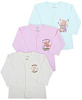 Babyhug Full Sleeves Front Open Vests - Set of 3