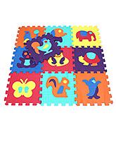 Fab N Funky Animal Design Puzzle Mat Multicolor - 10 Pieces