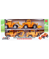 Fab N Funky Construction Truck Car Play Set - Set Of 4