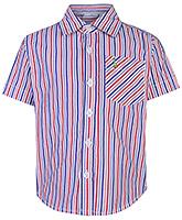 Babyhug Half Sleeves Shirt - Red And Blue