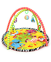 Fab N Funky Activity Playmat Gym Round Shape Animal Print - Multicolor