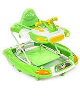 Fab N Funky Baby Walker Cum Rocker Scooter Style - Green