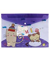 Fab N Funky Envelope Folder Purple - Cat Print