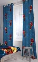 D'Decor - Iron Man Readymade Single Door Curtain - Accessorize The Room With This Curtain Of Iron Man