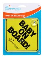 Dreambaby - 'Baby on Board' Sign