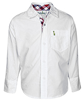 Babyhug Full Sleeves Shirt - Solid White