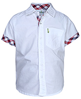 Babyhug Half Sleeves Shirt - Solid White