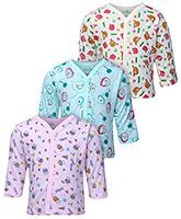 Babyhug Full Sleeves Vests Multi Print - Set Of 3