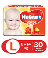 Huggies Dry Diapers Large - 30 Pieces