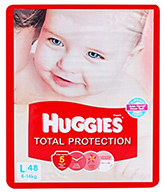 Huggies Total Protection Large Diapers - 48 Pieces