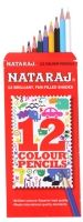 Nataraj - Colour Pencils 12 Brilliant fun-filled shades