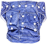 Bum Chum Fitted Cloth Diaper Blue Jean Style