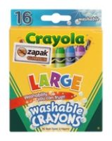 Stationery - Crayola - Large Washable Crayons