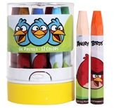 Angry Birds - Oil Pastels 12 Colors Resistant To Humidity For Longer Lasting Drawings