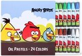 Angry Birds - Oil Pastels 24 Colors 24 Brilliant Colors Which Easily Blend And Are Acid ...