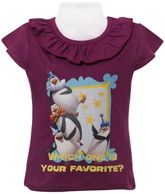 Madagascar - Short Sleeves Top with Madagascar Characters Print