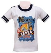 Madagascar - Marty Zebra Half Sleeves T-Shirt