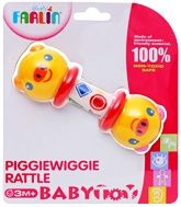 Farlin - Piggiewiggie Rattle 3 Months+, Easy to clean and store
