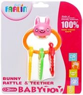 Farlin - Bunny Rattle &amp; Teether 