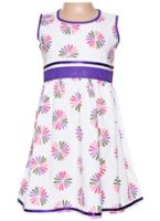 Sleeveless Frock - Flower Print