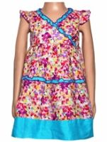 Sleeveless Frock - Multi Colour Design