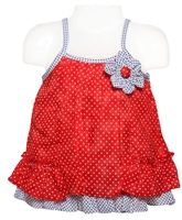 Infancy - Singlet Frock with Dots Print