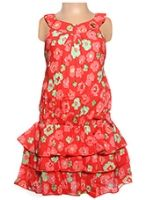 Infancy - Sleeveless Frock With Flowers Print