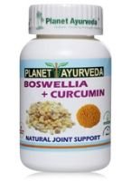 Planet Ayurveda Boswellia + Curcumin Natural Joint Health Support Supplement