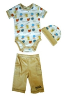 Disney - Bodysuit Pants and Cap Set