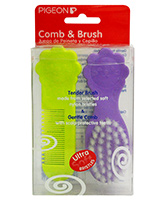 Pigeon - Comb And Brush Tender Brush Made From Selected Ultra Soft Nylon Bri...