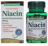 Nature's Bounty Flush Free Niacin Inositol Hexanicotinate - 500 mg
