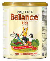 Pristine - Balance Kids Vanilla 200gm 2Years+, Alpha to omega nutrition for growing kids