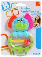 BKids  -  Jumbo Rattle Teether 3 Months+, Colourful elephant shaped rattle
