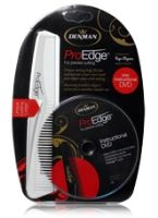 Denman Pro-Edge Kit with DVD - White