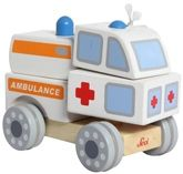 Sevi - Build Up Ambulance Push & Pull Wooden Toy