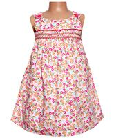 Sleeveless Dress - Flower Print