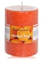 Illuminations Orange Pulp Scented Pillar Candle