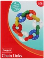Funskool  -  Chain Links 6 - 36 Months, 12 Colourful links for early learning...