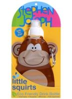 Stephen Joseph Little Squirts Drink Bottle - Monkey
