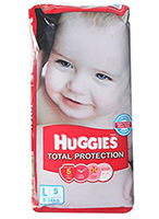 Buy Huggies Total Protection Diapers Large - 5 Pieces