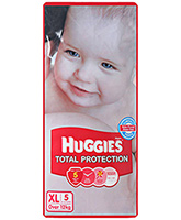 Buy Huggies Total Protection Diapers XL - 5 Pieces