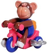 Wild Republic  -  Cycling Monkey 1 Year+, Wind Up The Toy And See The Monkey Cycling ...