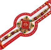 Rakhi - Om Design in Square