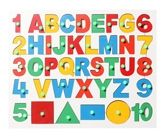 English alphabet with Number and Shapes