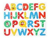 Wooden English Alphabet Picture Match with Knob